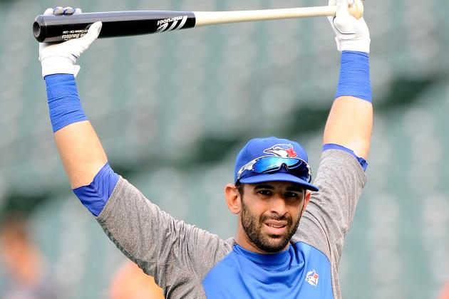 Jose Bautista Swinging at Full Strength Following Wrist Surgery