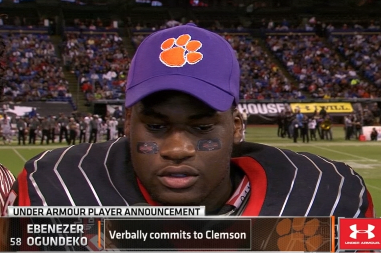 Ebenezer Ogundeko to Clemson: Tigers Land Top-Ranked Football Recruit