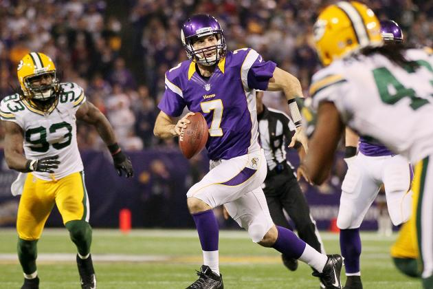 Christian Ponder, Antoine Winfield Questionable for Vikings vs. Packers