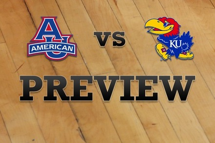 American University vs. Kansas: Full Game Preview