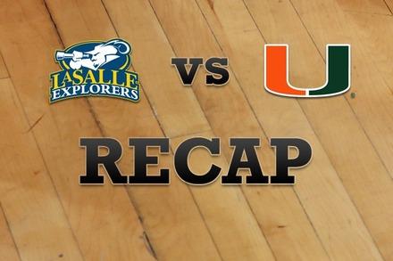 La Salle vs. Miami: Recap, Stats, and Box Score
