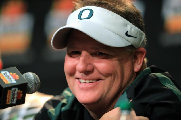 Bills Sit Down with Oregon's Chip Kelly