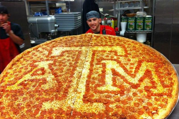 62-Inch Texas A&M Pizza