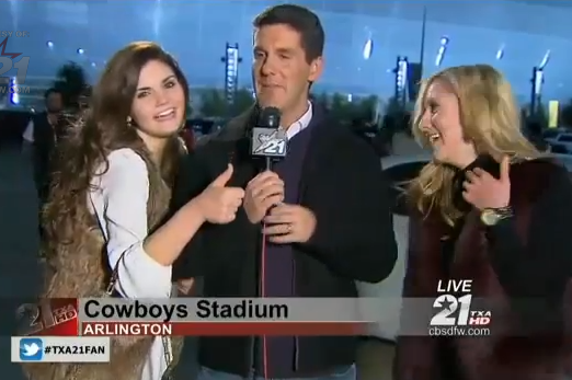 Johnny Football Fans Interrupt Reporter