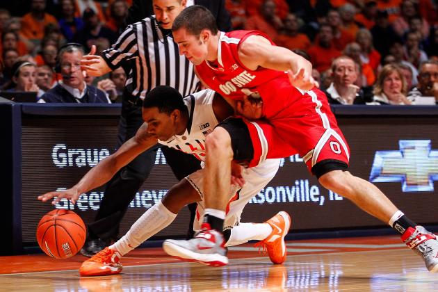 Men's Basketball: Ohio State Falls Hard at Illinois