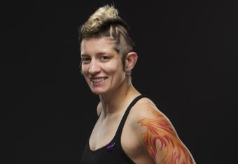 Winner: Sarah D'Alelio (Photo Credit: Esther Lin/Invicta FC)