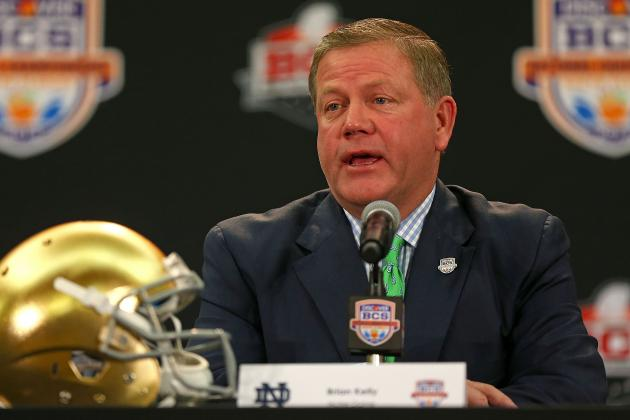 Notre Dame's Kelly Says Title-Game-or-Bust Bar Is Set