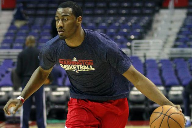 John Wall's Presence at Practice Boosts Wizards' Spirits