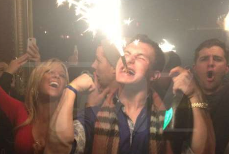 Johnny Football Spied Popping Bottles at Club