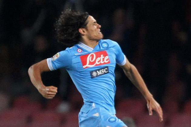 Cavani Leads Napoli Past Roma in Serie A Round 19 Clash