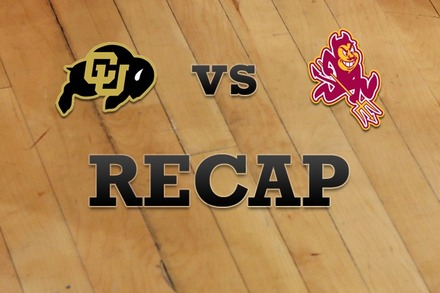 Colorado vs. Arizona State: Recap, Stats, and Box Score