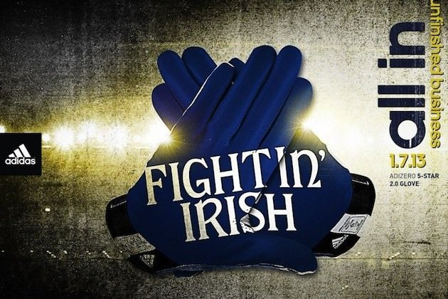 No New Uniforms (that We Know Of), but Notre Dame Will Be Wearing New Gloves