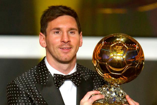 Lionel Messi Wins 2012 Ballon d'Or Award