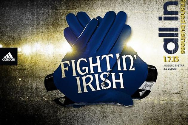 Breaking Down Notre Dame's BCS Championship 2013 Gloves