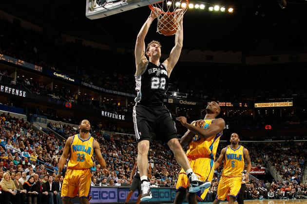 Monday: Spurs (27-9) at Hornets (8-25)