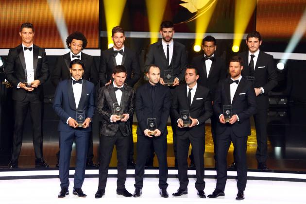 Ballon D'Or 2012: Awards Gala Turns to Farce as La Liga XI Mistaken for World XI