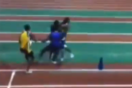 High School Track Fight Video