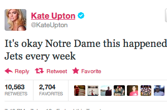 Kate Upton Disses Irish, Jets