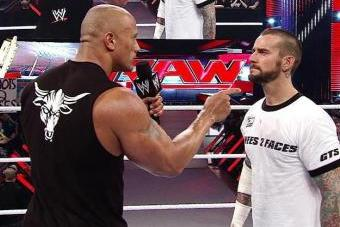 The Rock Delivers a Rock Bottom to CM Punk in Dramatic Return to Raw