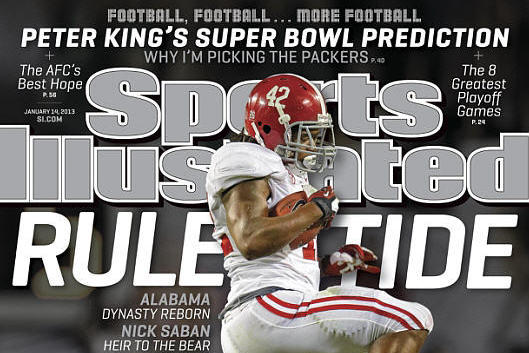 Lacy Runs over Irish on Newest SI Cover