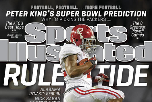 Eddie Lacy Runs over ND on SI Cover
