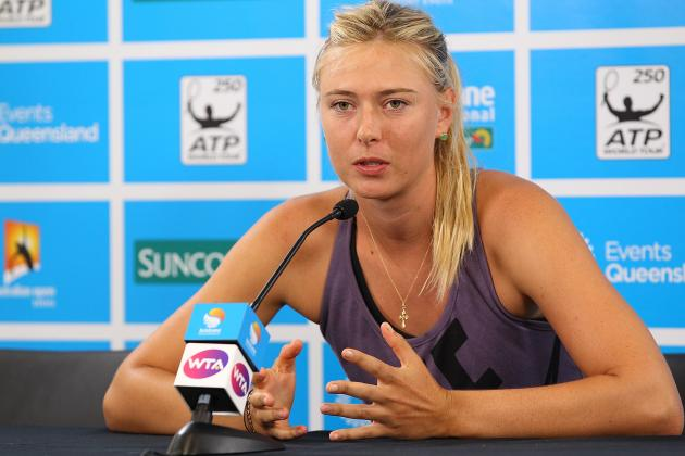 Maria Sharapova: Will Sidelined Star Be Ready for Australian Open?