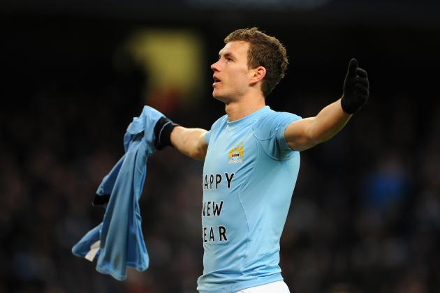 Inter Milan Open Talks with Man City Striker Edin Dzeko
