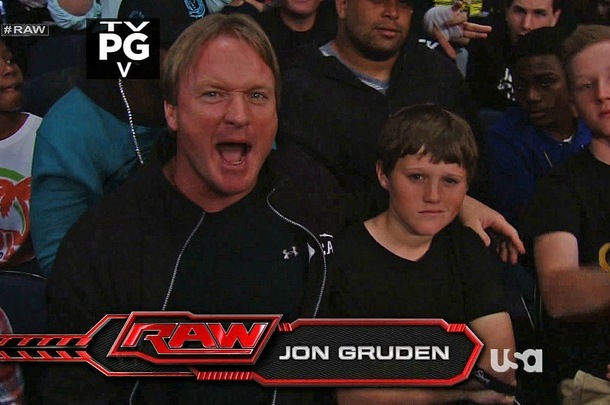 Jon Gruden Attends WWE Monday Night Raw Instead of Watching BCS Title Game