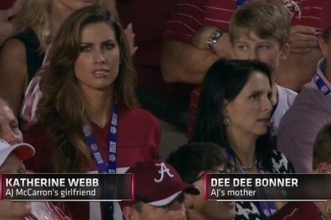 AJ McCarron's Mom, Dee Dee Bonner, Overshadowed by Son's Girlfriend at BCS Game