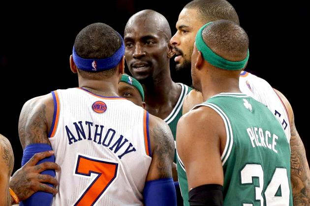 Carmelo Anthony Comments on Actions Following Game vs. Celtics