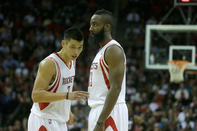 Watch Jeremy Lin and James Harden Show Up Lakers' Rookie in Win vs. L.A.