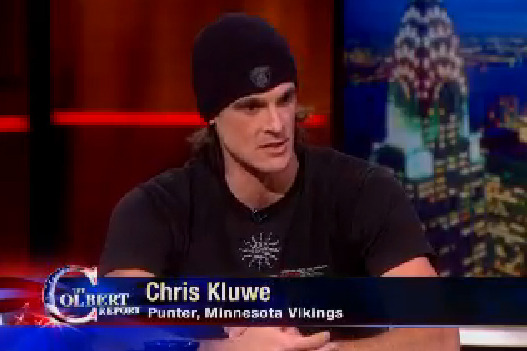 Vikings 'Professional Surrenderer' Chris Kluwe Crushes It on the Colbert Report