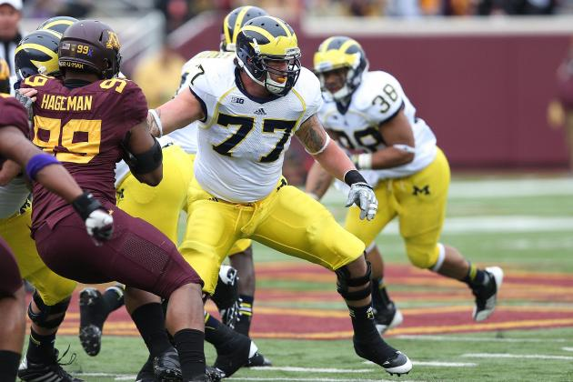 Taylor Lewan 'Officially Back' in Michigan, but for Senior Year?