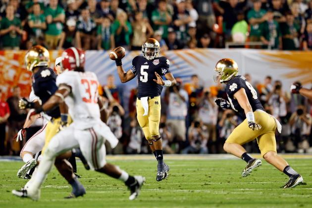 Notre Dame Football: Will Irish Once Again Have QB Controversy During Offseason?