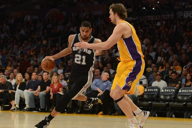 Wednesday: Lakers (15-19) at Spurs (27-10)