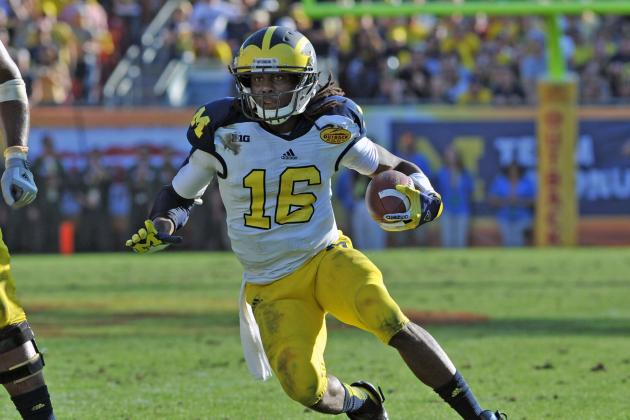 Denard Robinson Will Be a Receiver at Senior Bowl