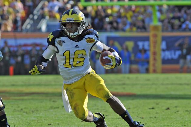 Michigan's Denard Robinson to Play Wide Receiver in Senior Bowl
