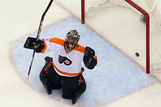 Bryzgalov at Ease in First Skate Back with Flyers