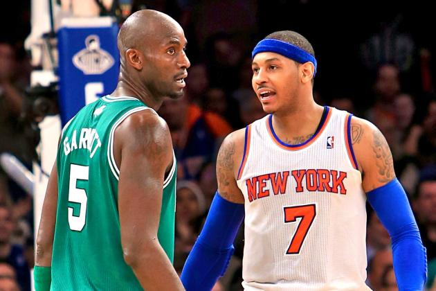 Carmelo Anthony Suspended 1 Game for Confrontation with Kevin Garnett