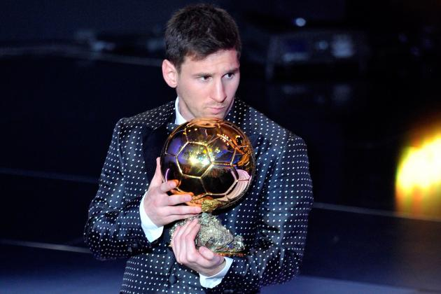 This Is Lionel Messi with His Giant Trophy Cabinet