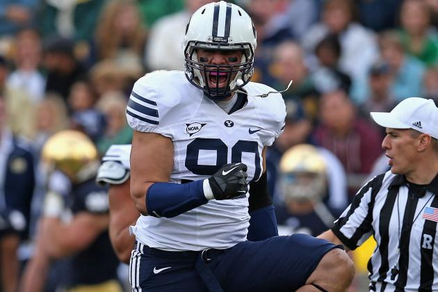 BYU Defensive End Bronson Kaufusi Earning a Role on Basketball Team