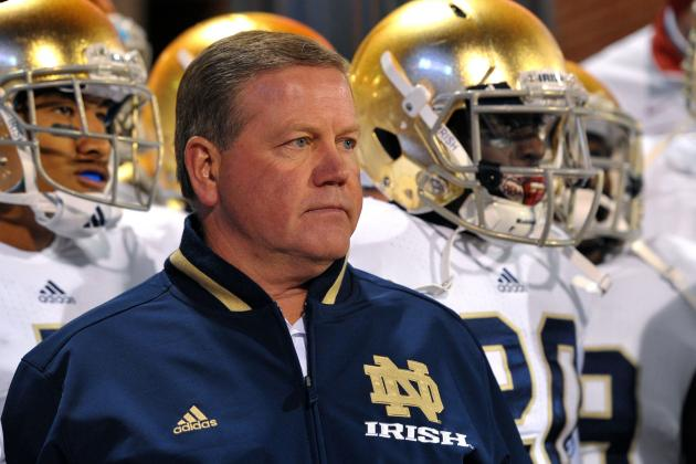 Don't Worry Notre Dame Fans, Brian Kelly Is Just Flirting with the Eagles