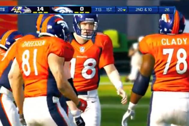 Two Denver Broncos Earn Increased Ratings in Madden NFL 13