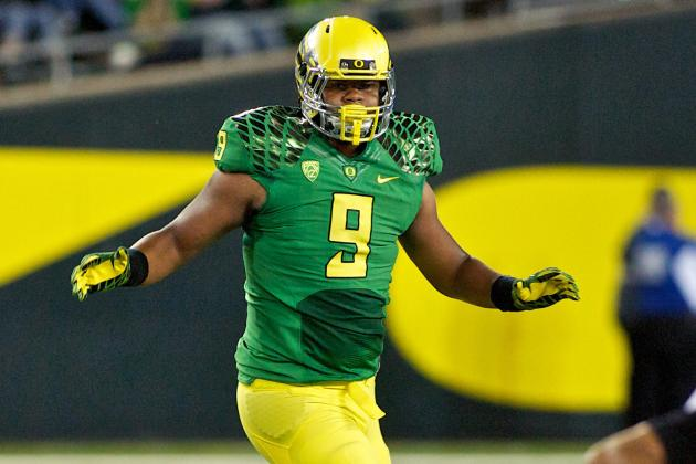 Football Over, Oregon's Armstead Hits Practice Court