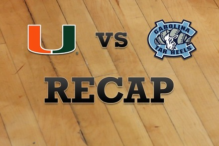 Miami vs. North Carolina: Recap and Stats