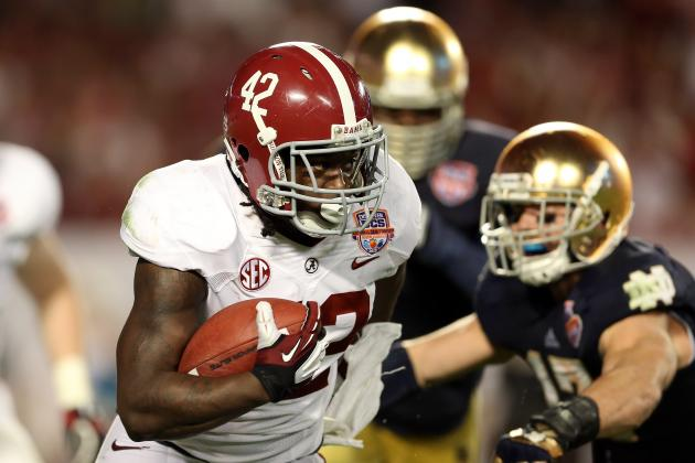Alabama Football Recruiting: 2013 RBs Will Push Eddie Lacy to Enter NFL Draft
