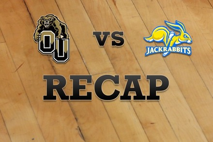 Oakland vs. South Dakota State: Recap and Stats