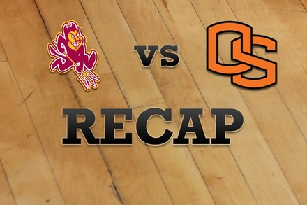 Arizona State vs. Oregon State: Recap and Stats
