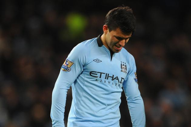 Roberto Mancini Hopes Sergio Aguero Fit to Face Fulham