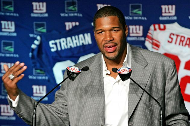 Michael Strahan, Bill Parcells Among 17 Finalists for Pro Football Hall of Fame